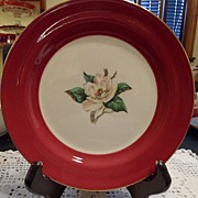 "Vintage - Homer Laughlin - ""Burgundy"" - Salad Plate"