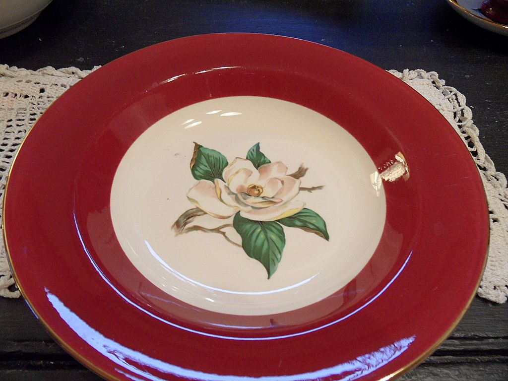 Vintage - Homer Laughlin - &quot;Burgundy&quot; - Soup Bowl