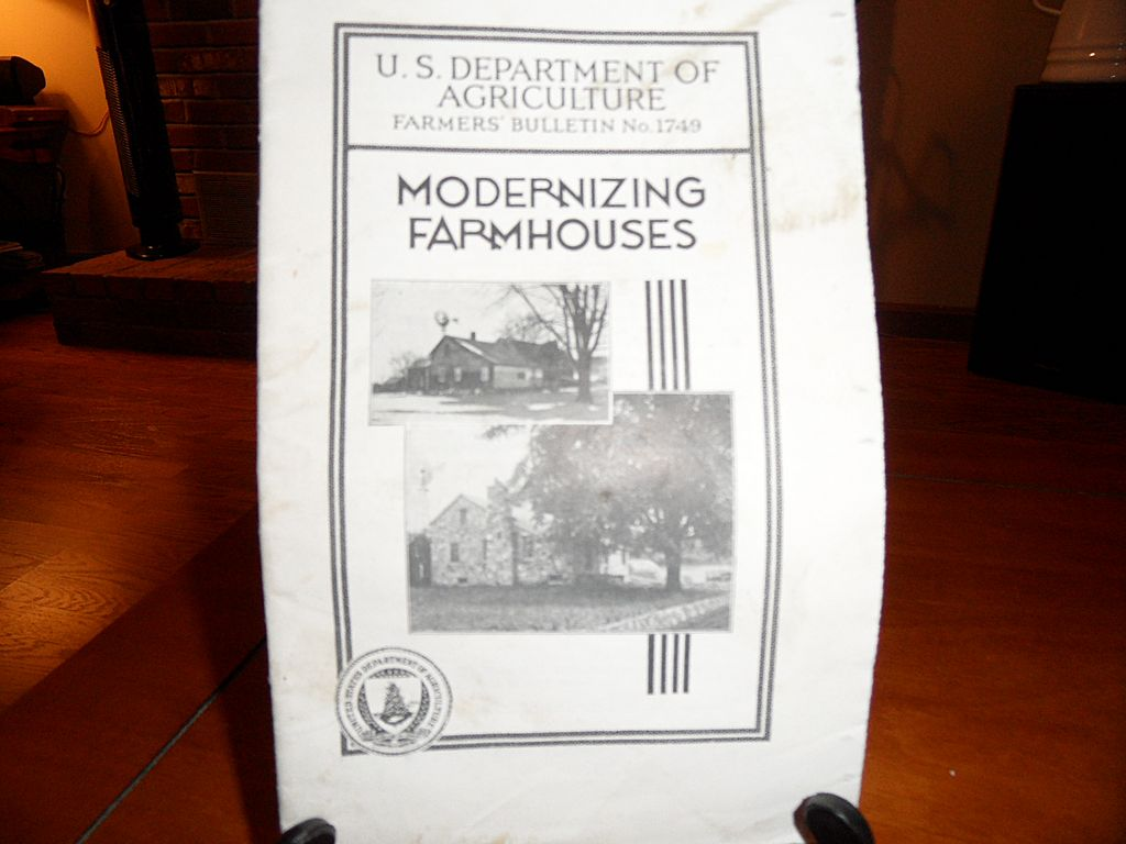 "Vintage - ""Modernizing Farmhouses"", US Dept of Agriculture Farmers Bulletin No. 1749"