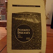 "SALE Vintage - ""Potato Diseases and Their Control"", US Dept of Agriculture, 1941"