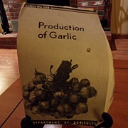 "SALE Vintage - ""Production of Garlic"", US Dept of Agriculture, 1938"