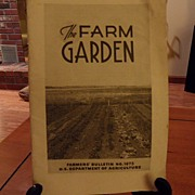 "SALE Vintage - ""The Farm Garden"", US Dept of Agriculture, 1942"