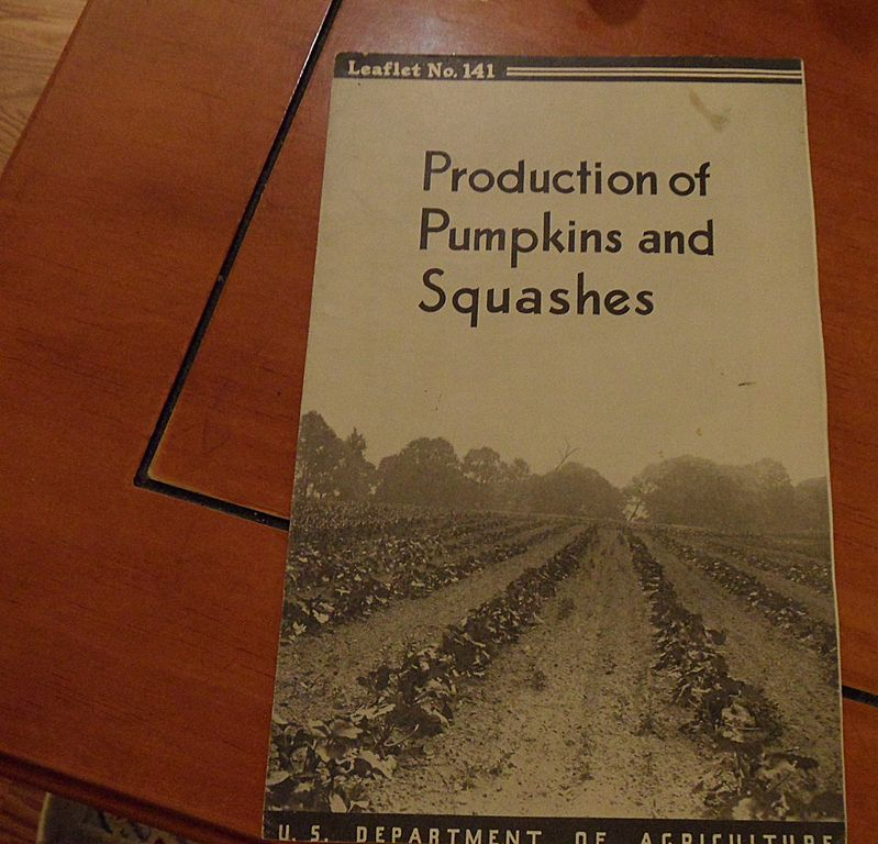 "Vintage - ""Production of Pumpkins and Squashes"", US Dept of Agriculture, 1940"