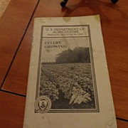 "SALE Vintage - ""Celery Growing"", US Dept of Agriculture, 1940"
