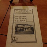 "SALE Vintage - ""Roof Coverings for Farm Buildings and Their Repair"", US Dept of Agri"