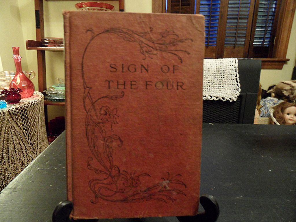 "Antique - ""The Sign of the Four"" by A. Conan Doyle, 1890"