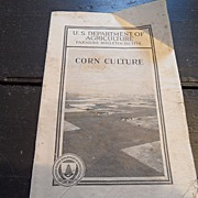 "SALE Vintage - ""Corn Culture"", US Dept of Agriculture, 1933"