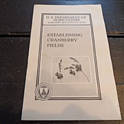"SALE Vintage - ""Establishing Cranberry Fields"", 1941"