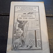 "SALE Vintage - ""Painting on the Farm"", US Dept of Agriculture, 1938"