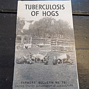 "SALE Vintage - ""Tuberculosis of Hogs"", US Dept of Agriculture, 1940"