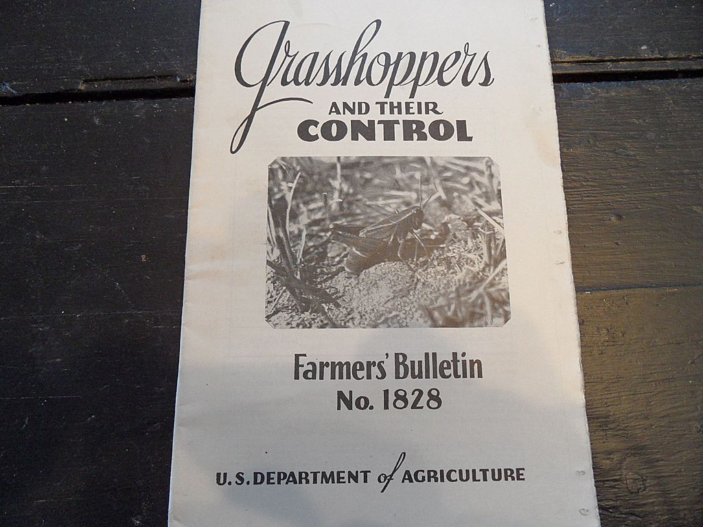 "Vintage - ""Grasshoppers and Their Control"", US Dept of Agriculture, 1939"