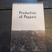 "SALE Vintage - ""Production of Peppers"", US Dept of Agriculture, 1940"