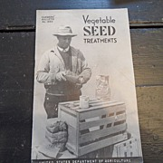 "SALE Vintage - ""Vegetable Seed Treatments"", US Dept of Agriculture, 1942"