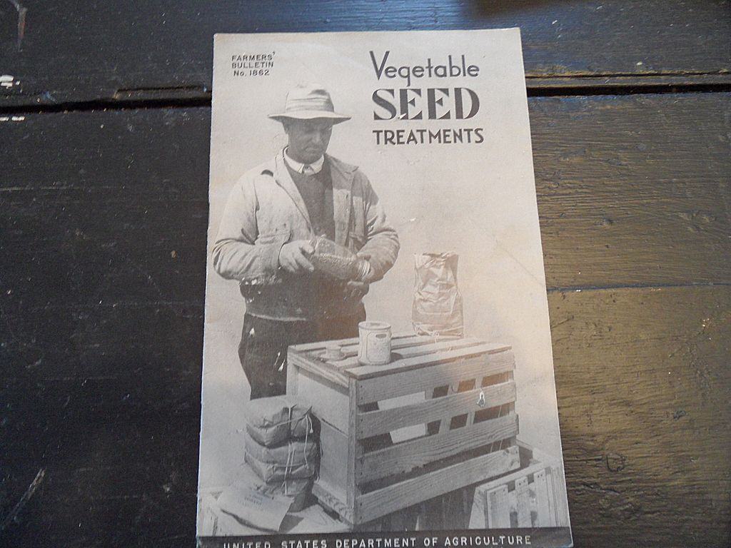 "Vintage - ""Vegetable Seed Treatments"", US Dept of Agriculture, 1942"