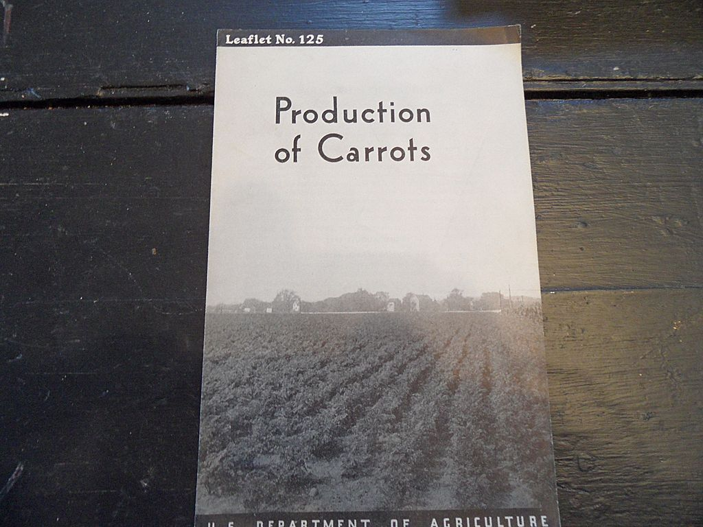 Vintage - &quot;Production of Carrots&quot;, US Dept of Agriculture, 1938