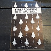"SALE Vintage - ""Fireproofing Christmas Trees"", US Dept of Agriculture, 1939"