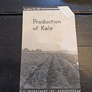 "SALE Vintage - ""Production of Kale"", US Dept of Agriculture, 1937"