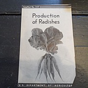 "SALE Vintage - ""Production of Radishes"", US Dept of Agriculture, 1938"