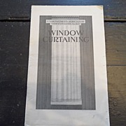 "SALE Vintage - ""Window Curtaining"", US Dept of Agriculture, 1940"