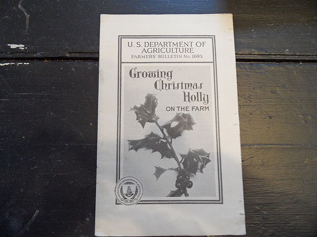 "Vintage - ""Growing Christmas Holly on the Farm"", US Dept of Agriculture, 1940"