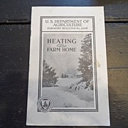 "SALE Vintage - ""Heating the Farm Home"", US Dept of Agriculture, 1939"
