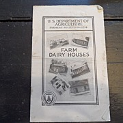 "SALE Vintage - ""Farm Dairy Houses"", US Dept of Agriculture, 1940"