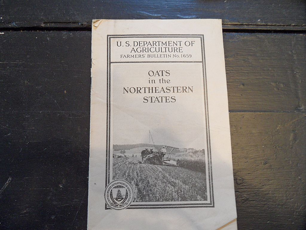Vintage - &quot;Oats in the Northeastern States&quot;, US Dept of Agriculture, 1940
