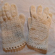 SALE Vintage - 1950's Off-White  Gloves