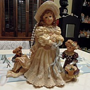 SALE Collectible - Boyd's Bear's  - Emily with Kathleen & Otis...The Future