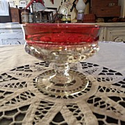 SALE Vintage - Kings Crown Ruby Flashed  - Sherbet Glass