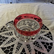Vintage - Kings Crown Ruby Flashed  - Punch Glass