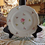 Vintage - Johann Haviland - Scalloped Edges Rosebud - Bread Plate