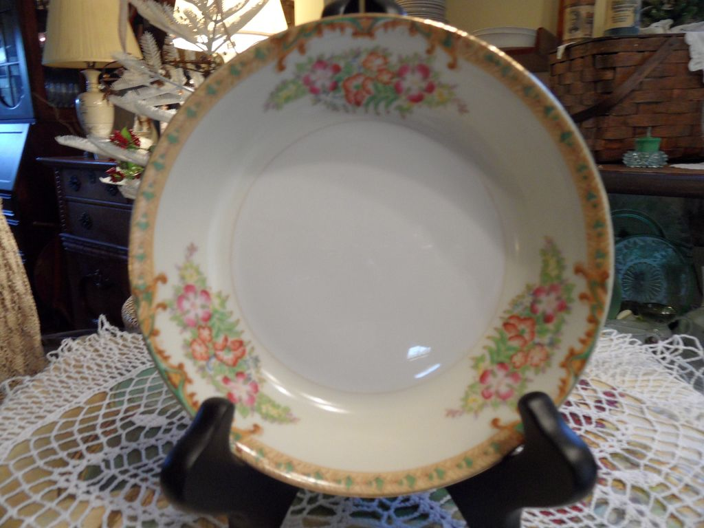 Vintage - Diamond - Hand Painted - Soup Bowl