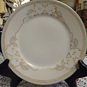 Antique - Limoges - Artist Signed - Bread Plate