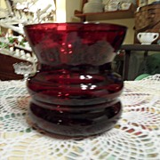SALE Vintage - Ruby Red - Glass Vase