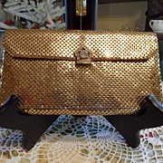SALE Vintage - Whiting and Davis - Clutch - Gold Colored