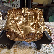 SALE Vintage - Whiting and Davis - Purse - Gold Colored