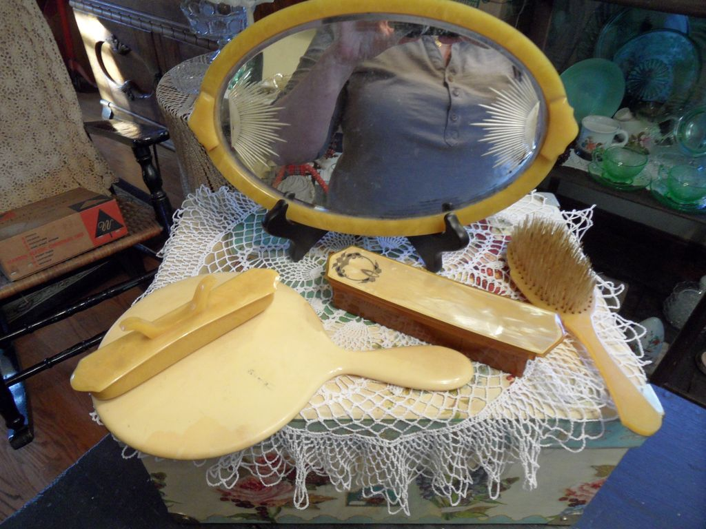 Vintage - Vanity Set and Other Items - 50's