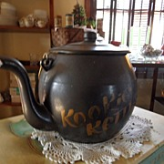 "SALE Vintage - Porcelain - Cookie Jar - ""Kookie Kettle"""