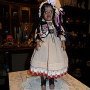 "SALE Vintage - Rose Doll - 18"" Tall - Porcelain - American Indian"