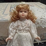 SALE Vintage - Porcelain - Wedding Doll - 9""