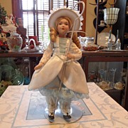 Vintage - Little Bo Peep - Porcelain Doll - 11""