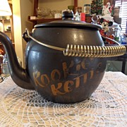 SALE Vintage - Kookie Kettle - Cookie Jar