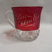 SALE Antique - Ruby Flash - Mug - 1901