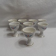 SALE Vintage - Set of 8 Porcelain Egg Holders - 30's