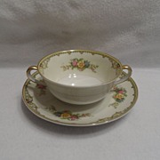 SALE Vintage - Noritake - 2 Handled Bowl with Saucer