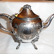 SALE Antique - Rogers Smith Co. - Silver Plate - Tea Pot - 1863