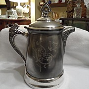 SALE Antique - Oneida - Quadruple Plate - Coffee Pot