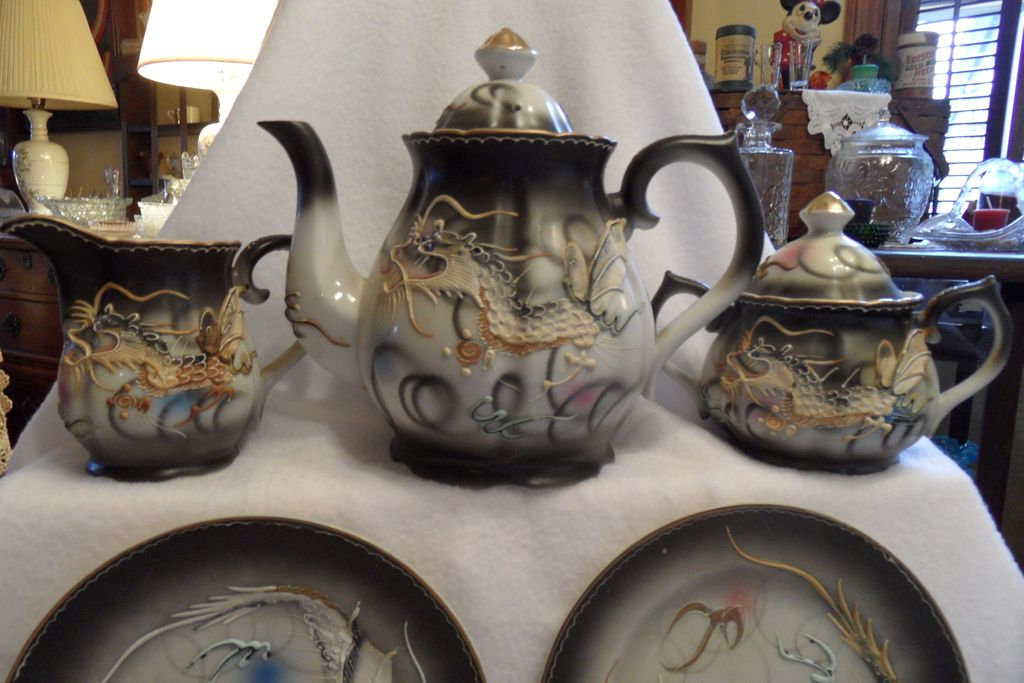 Antique - Nippon - Dragonware - Porcelain - Tea Set