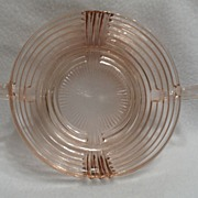 SALE Vintage - Depression Glass- Pink - Relish Bowl